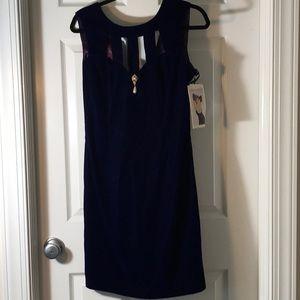 Pretty purplish blue velvet holiday dress